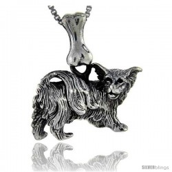 Sterling Silver Papillion Dog Pendant