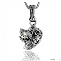 Sterling Silver Papillion Dog Pendant -Style Pa1013