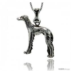 Sterling Silver Saluki Dog Pendant