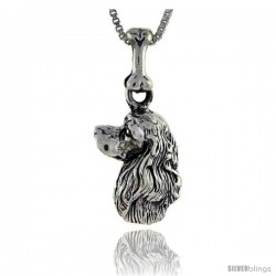 Sterling Silver American Cocker Dog Pendant -Style Pa1029