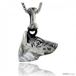 Sterling Silver Basenji Dog Pendant -Style Pa1034