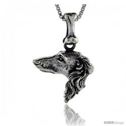Sterling Silver Borzoi Dog Pendant -Style Pa1047
