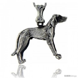 Sterling Silver Fox Hound Dog Pendant