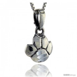 Sterling Silver Lion's Footprint Pendant, 3/4 in tall