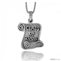 Sterling Silver Class of 2004 Pendant, 3/4 in