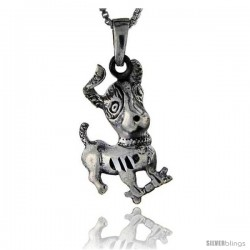 Sterling Silver Dog Pendant, 1 3/8 in tall -Style Pa136