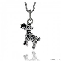 Sterling Silver Fawn (Young Deer) Pendant, 1/2 in tall