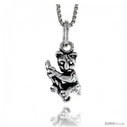 Sterling Silver Tarsier Pendant, 1/2 in tall -Style Pa1459