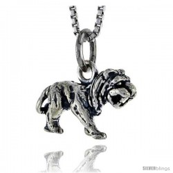 Sterling Silver Lion Pendant, 5/8 in wide