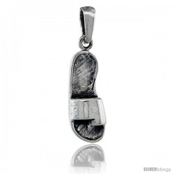 Sterling Silver Sandal Pendant, 7/8 in tall