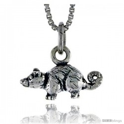 Sterling Silver Mouse Pendant, 1/2 in wide