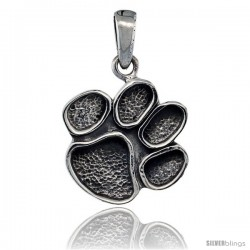 Sterling Silver Cougar Paw Pendant, 3/4 in tall