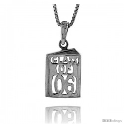 Sterling Silver Class of 2006 Pendant, 5/8 in