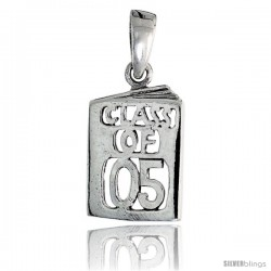 Sterling Silver Class of 2005 Pendant, 5/8 in