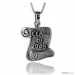Sterling Silver Class of 2006 Pendant, 3/4 in