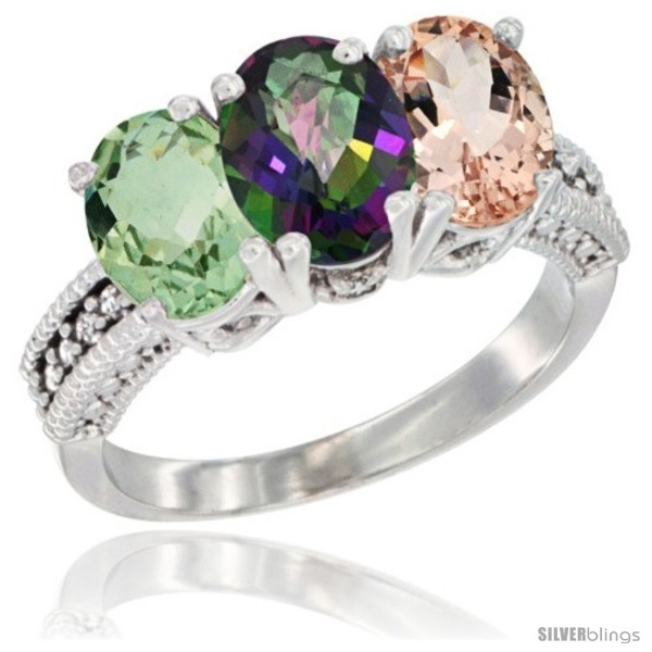 https://www.silverblings.com/6145-thickbox_default/14k-white-gold-natural-green-amethyst-mystic-topaz-morganite-ring-3-stone-7x5-mm-oval-diamond-accent.jpg