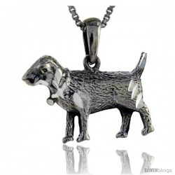 Sterling Silver Sheep Pendant, 1 in tall
