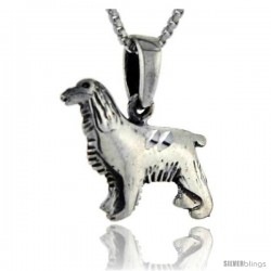 Sterling Silver Dog Pendant, 3/4 in tall -Style Pa132