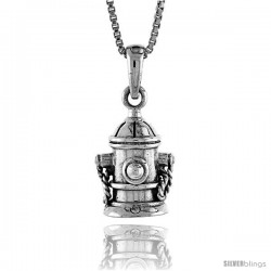 Sterling Silver Fire Hydrant Pendant, 1/2 in -Style Pa1359