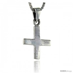 Sterling Silver Cross Pendant, 1 in tall -Style Pa1279