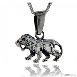 Sterling Silver Lion Pendant, 3/4 in tall -Style Pa116