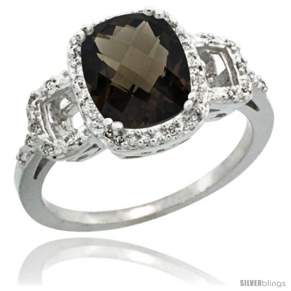 https://www.silverblings.com/61675-thickbox_default/14k-white-gold-diamond-smoky-topaz-ring-2-ct-checkerboard-cut-cushion-shape-9x7-mm-1-2-in-wide.jpg