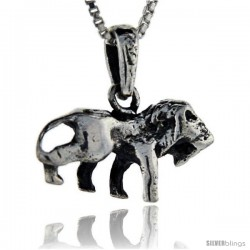 Sterling Silver Lion Pendant, 3/4 in tall -Style Pa114