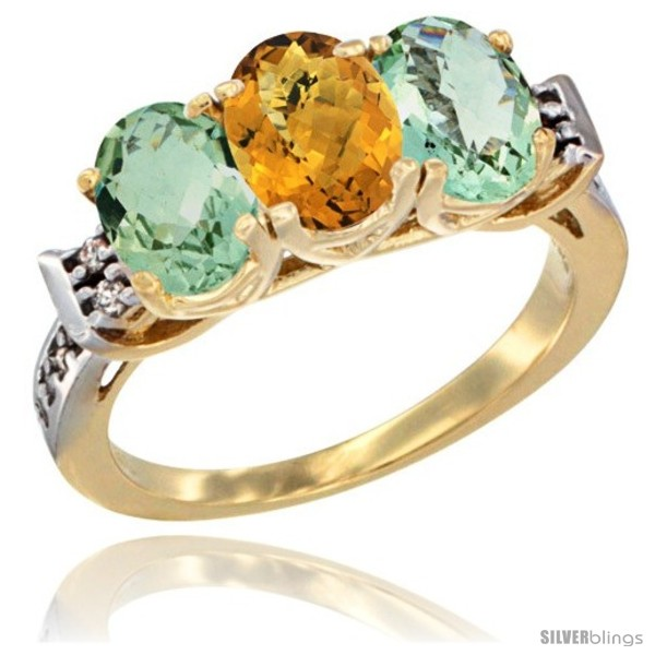 https://www.silverblings.com/6193-thickbox_default/10k-yellow-gold-natural-whisky-quartz-green-amethyst-sides-ring-3-stone-oval-7x5-mm-diamond-accent.jpg
