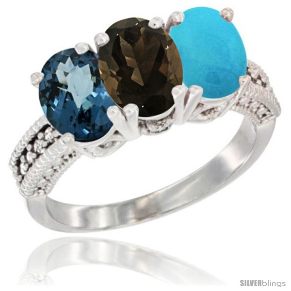 https://www.silverblings.com/61985-thickbox_default/10k-white-gold-natural-london-blue-topaz-smoky-topaz-turquoise-ring-3-stone-oval-7x5-mm-diamond-accent.jpg