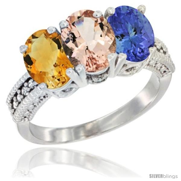 https://www.silverblings.com/62019-thickbox_default/10k-white-gold-natural-citrine-morganite-tanzanite-ring-3-stone-oval-7x5-mm-diamond-accent.jpg