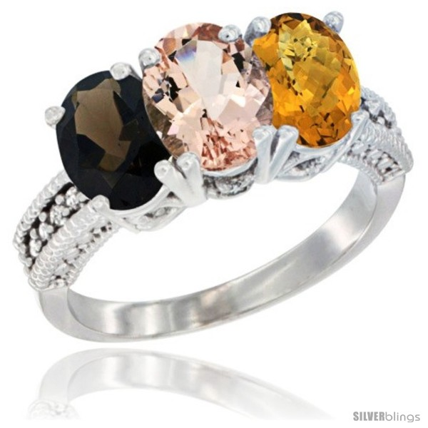 https://www.silverblings.com/62051-thickbox_default/14k-white-gold-natural-smoky-topaz-morganite-whisky-quartz-ring-3-stone-7x5-mm-oval-diamond-accent.jpg