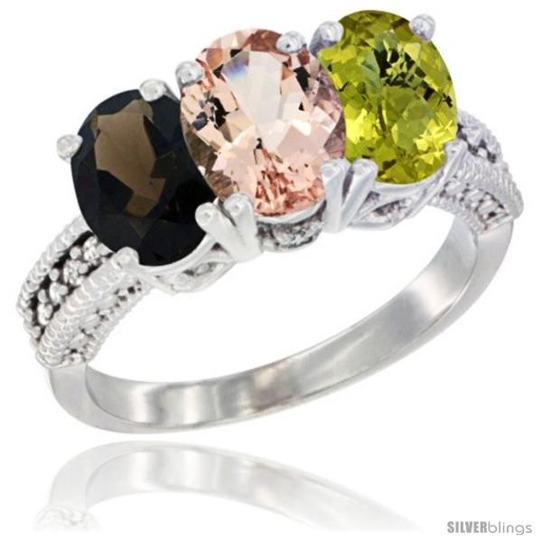 https://www.silverblings.com/62053-thickbox_default/14k-white-gold-natural-smoky-topaz-morganite-lemon-quartz-ring-3-stone-7x5-mm-oval-diamond-accent.jpg