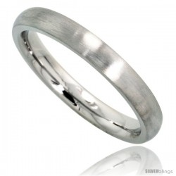 Surgical Steel 3mm Domed Wedding Band Thumb / Toe Ring Comfort-Fit Matte Finish