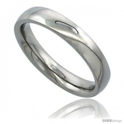 Surgical Steel 4mm Domed Wedding Band Thumb Ring Comfort-Fit High Polish