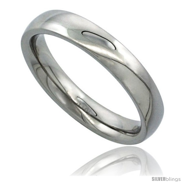 surgical steel 4mm domed wedding band thumb ring comfort