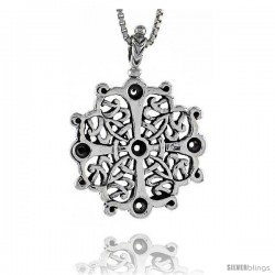 Sterling Silver Celtic Cross Pendant, 1 1/2 in tall