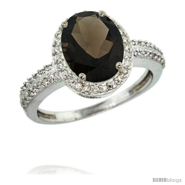 https://www.silverblings.com/62457-thickbox_default/14k-white-gold-diamond-smoky-topaz-ring-oval-stone-10x8-mm-2-4-ct-1-2-in-wide.jpg