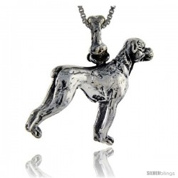 Sterling Silver Boxer Dog Pendant