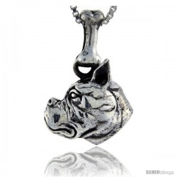 Sterling Silver Boxer Dog Pendant -Style Pa1049
