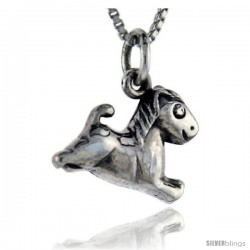 Sterling Silver Horse Pendant, 5/8 in tall -Style Pa105