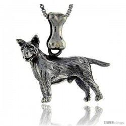 Sterling Silver Bull Terrier Dog Pendant