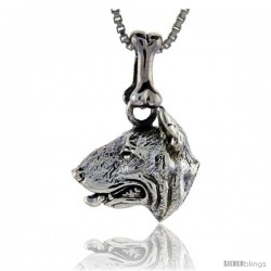 Sterling Silver Bull Terrier Dog Pendant -Style Pa1053