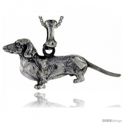 Sterling Silver Dachshunds Dog Pendant