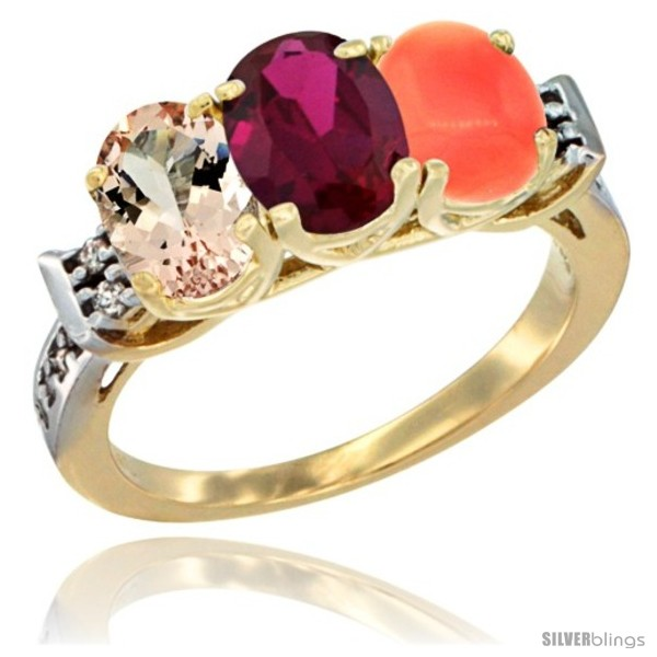 https://www.silverblings.com/62747-thickbox_default/10k-yellow-gold-natural-morganite-ruby-coral-ring-3-stone-oval-7x5-mm-diamond-accent.jpg