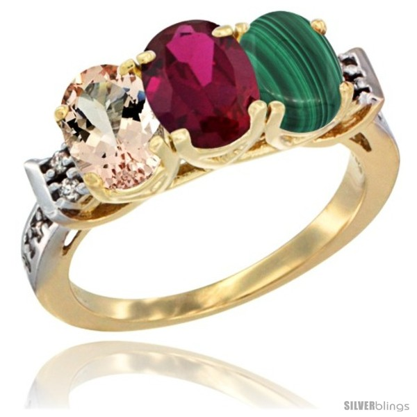 https://www.silverblings.com/62751-thickbox_default/10k-yellow-gold-natural-morganite-ruby-malachite-ring-3-stone-oval-7x5-mm-diamond-accent.jpg