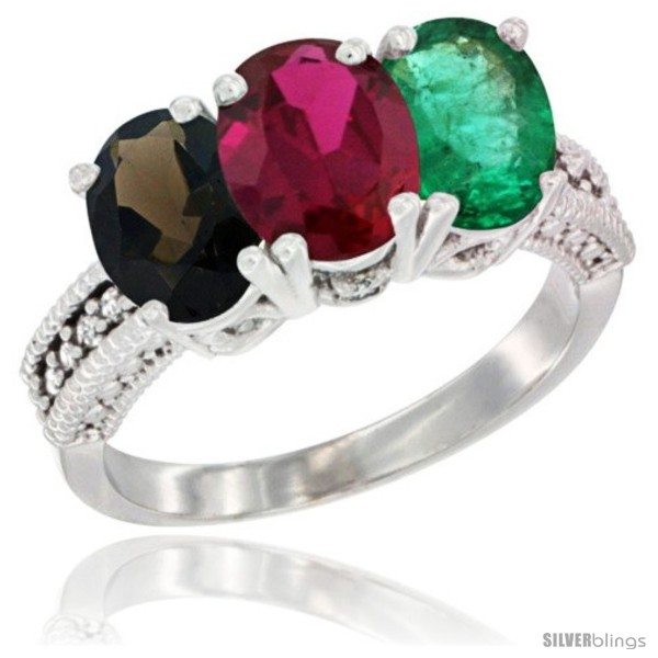 https://www.silverblings.com/62766-thickbox_default/14k-white-gold-natural-smoky-topaz-ruby-emerald-ring-3-stone-7x5-mm-oval-diamond-accent.jpg