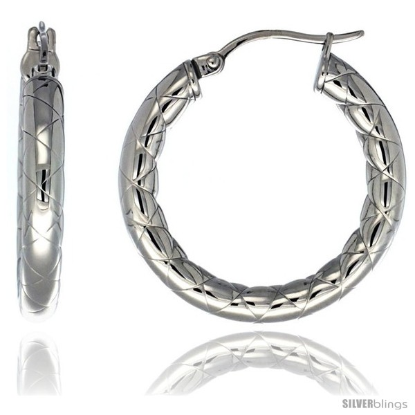 https://www.silverblings.com/628-thickbox_default/surgical-steel-1-1-4-in-hoop-earrings-zigzag-embossed-pattern-4-mm-tube-feather-weigh.jpg