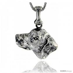 Sterling Silver Dalmatian Dog Pendant -Style Pa1060