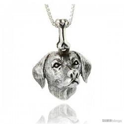 Sterling Silver Dalmatian Dog Pendant -Style Pa1061