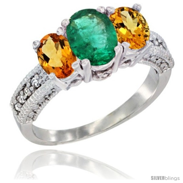 https://www.silverblings.com/62923-thickbox_default/10k-white-gold-ladies-oval-natural-emerald-3-stone-ring-citrine-sides-diamond-accent.jpg
